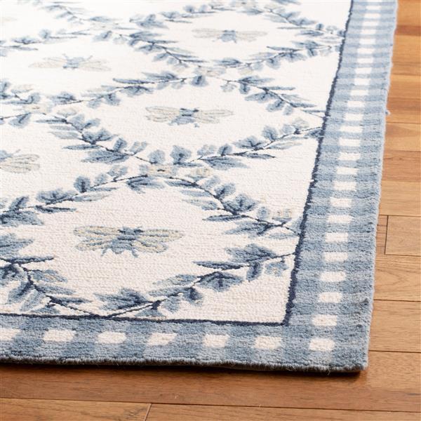 Safavieh Chelsea Floral Rug - 8.8' x 11.8' - Wool - Blue