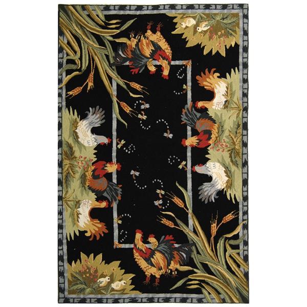 Safavieh Chelsea Rug - 8.8' x 11.8' - Wool - Black