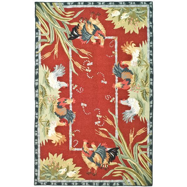 Safavieh Chelsea Rug - 8.8' x 11.8' - Wool - Red