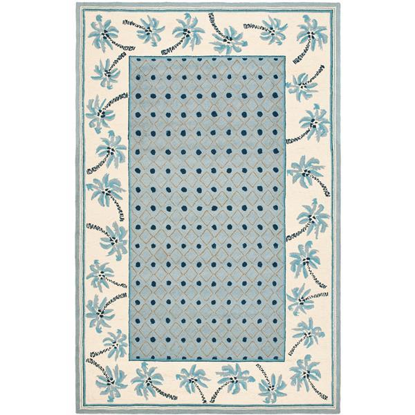 Safavieh Chelsea Border Rug - 8.8' x 11.8' - Wool - Blue