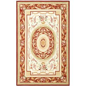 Safavieh Chelsea Floral Rug - 8.8' x 11.8' - Wool - Red