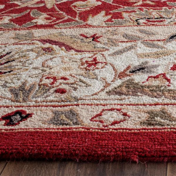 Safavieh Chelsea Floral Rug - 8.8' x 11.8' - Wool - Burgundy