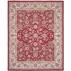 Chelsea Floral Rug - 8.8' x 11.8' - Wool - Burgundy