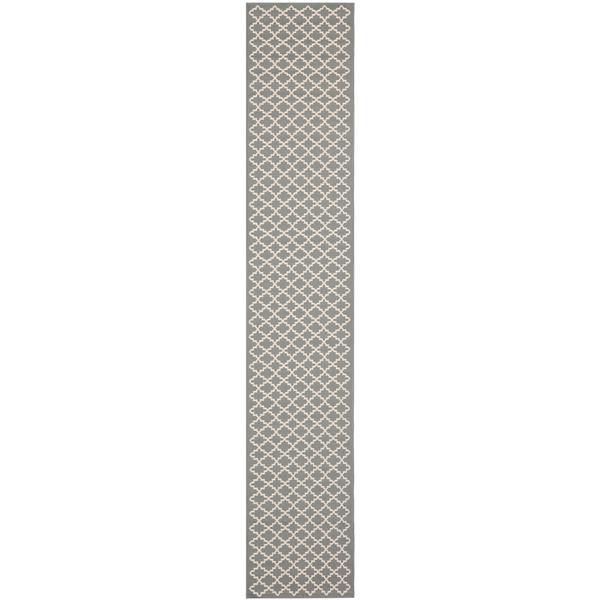 Safavieh Courtyard Rug - 2.3' x 8' - Polypropylene - Anthracite/Beige