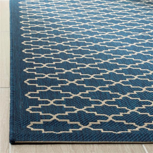 Safavieh Courtyard Rug - 5.3' x 5.3' - Polypropylene - Navy Blue