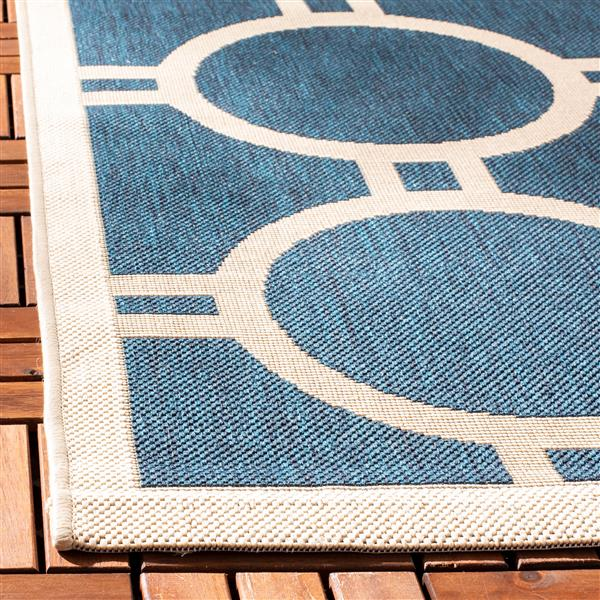 Safavieh Courtyard Rug - 5.3' x 5.3' - Polypropylene - Navy Blue
