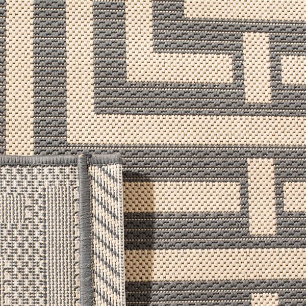 Safavieh Courtyard Rug - 5.3' x 5.3' - Polypropylene - Gray/Cream