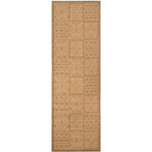 Safavieh Courtyard Rug - 2.3' x 6.6' - Polypropylene - Gold/Natural