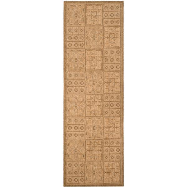 Safavieh Courtyard Rug - 2.6' x 8.2' - Polypropylene - Gold/Natural