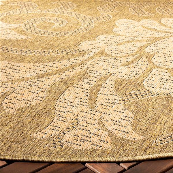 Safavieh Courtyard Rug - 4' x 5.6' - Polypropylene - Gold/Natural