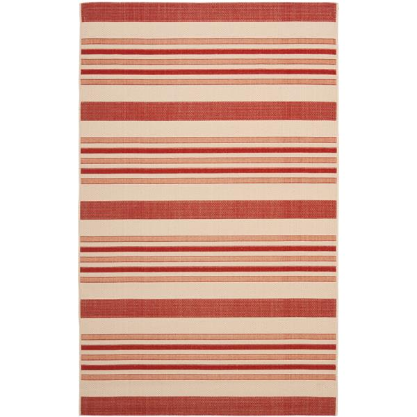 Safavieh Courtyard Rug - 5.3' x 7.6' - Polypropylene - Beige/Red