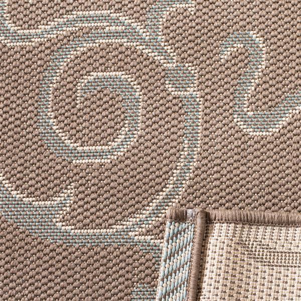 Safavieh Courtyard Rug - 4' x 5.6' - Polypropylene - Beige