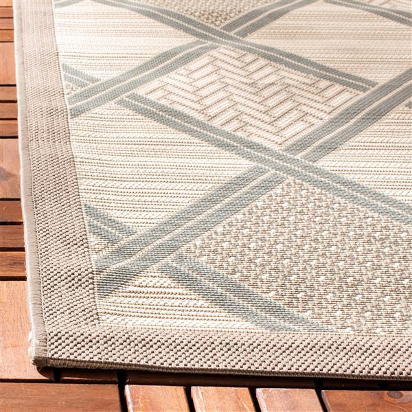 Safavieh Courtyard Rug - 5.3' x 7.6' - Polypropylene - Beige