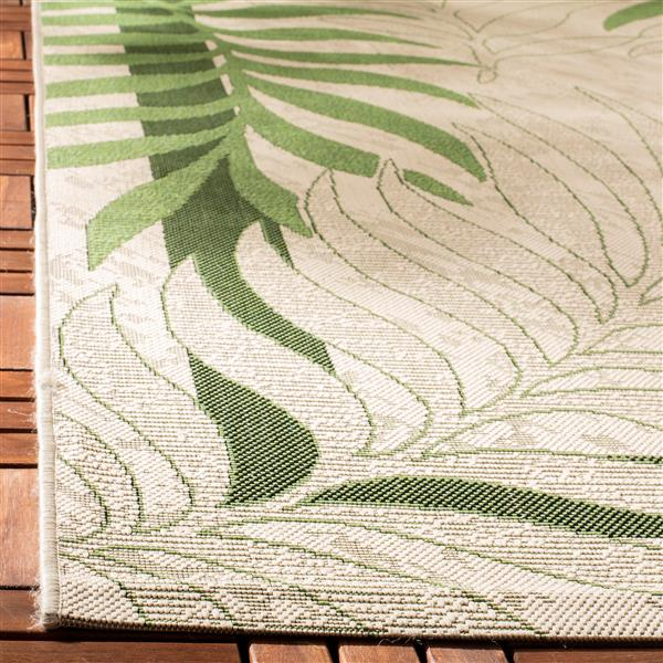 Safavieh Courtyard Rug - 5.3' x 5.3' - Polypropylene - Cream/Green