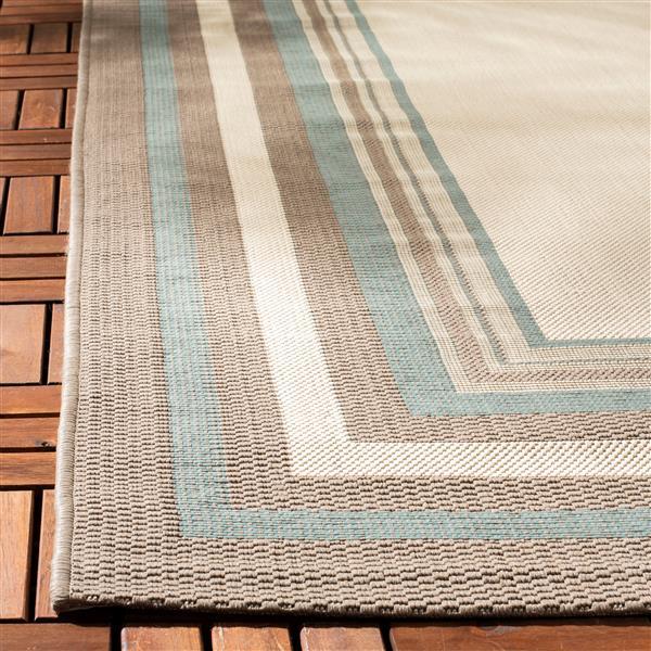 Safavieh Courtyard Rug - 4' x 5.6' - Polypropylene - Beige/Blue