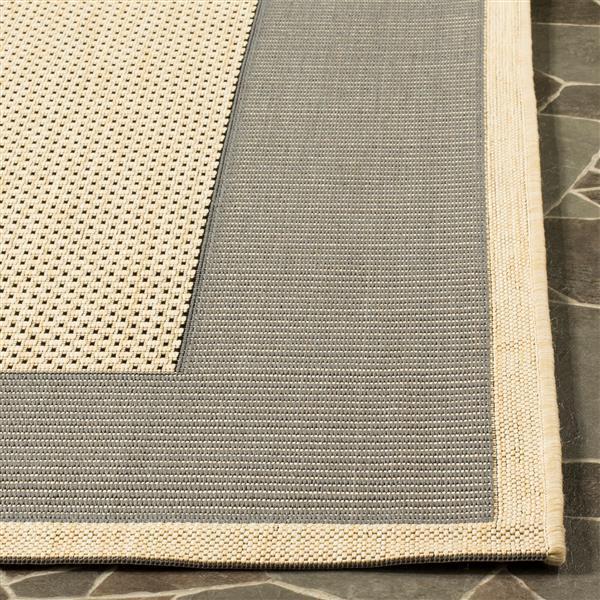 Safavieh Courtyard Rug - 2.3' x 12' - Polypropylene - Gray/Cream