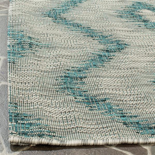 Safavieh Courtyard Rug - 4' x 5.6' - Polypropylene - Gray/Blue