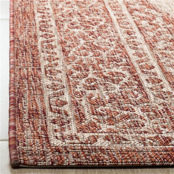 Safavieh Courtyard Rug - 2.6' x 5' - Polypropylene - Beige/Terracotta