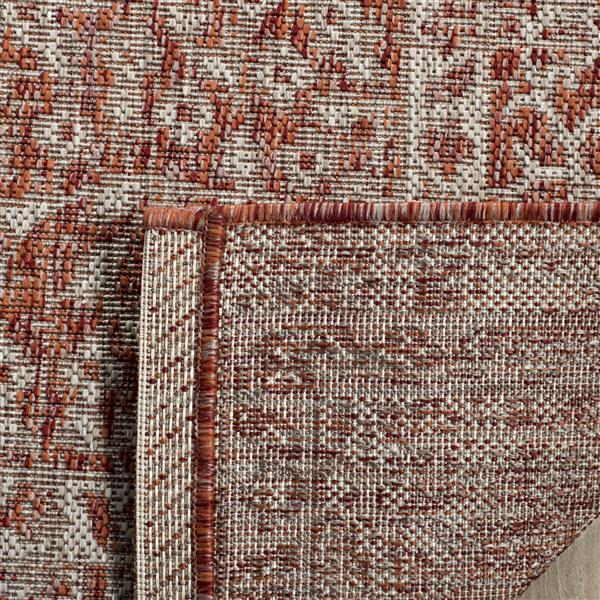 Safavieh Courtyard Rug - 4' x 5.6' - Polypropylene - Beige/Terracotta