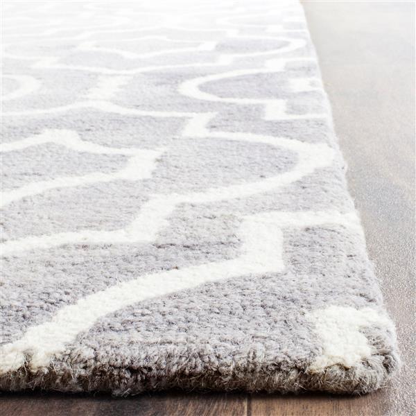 Safavieh Dip Dye Rug - 11' x 15' - Wool - Gray/Ivory