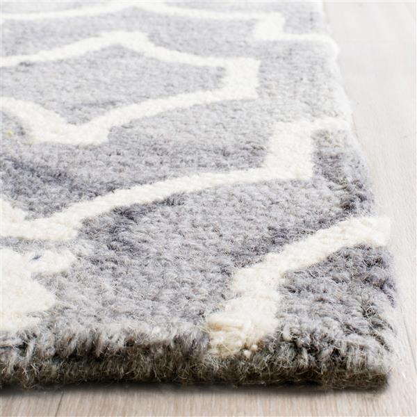 Safavieh Dip Dye Rug - 2' x 3' - Wool - Gray/Ivory