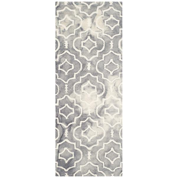 Safavieh Dip Dye Rug - 2.3' x 6' - Wool - Gray/Ivory