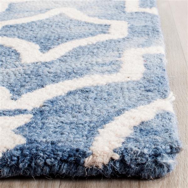 Safavieh Dip Dye Rug - 2.3' x 6' - Wool - Blue/Ivory