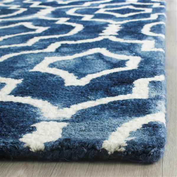Safavieh Dip Dye Rug - 2' x 3' - Wool - Navy Blue/Ivory