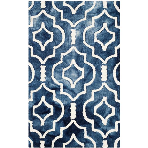 Safavieh Dip Dye Rug - 2.5' x 4' - Wool - Navy Blue/Ivory