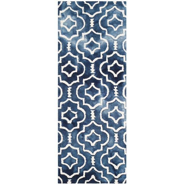 Safavieh Dip Dye Rug - 2.3' x 6' - Wool - Navy Blue/Ivory