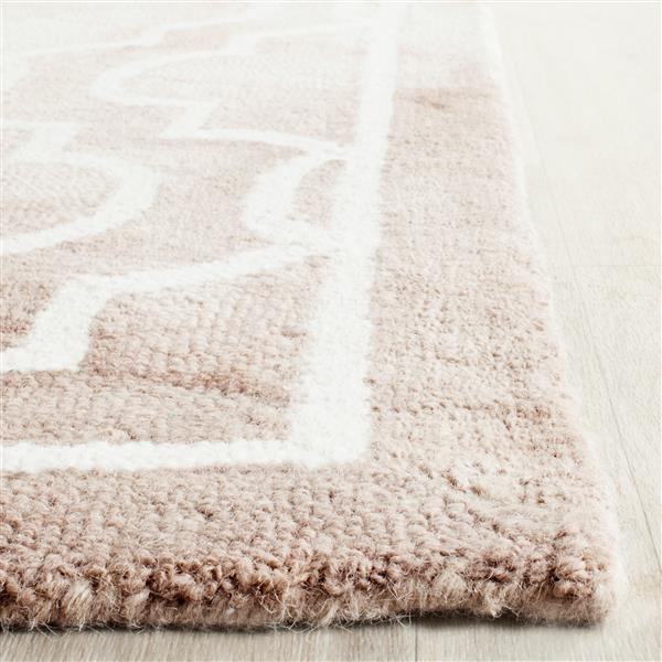 Safavieh Dip Dye Rug - 10' x 14' - Wool - Beige/Ivory