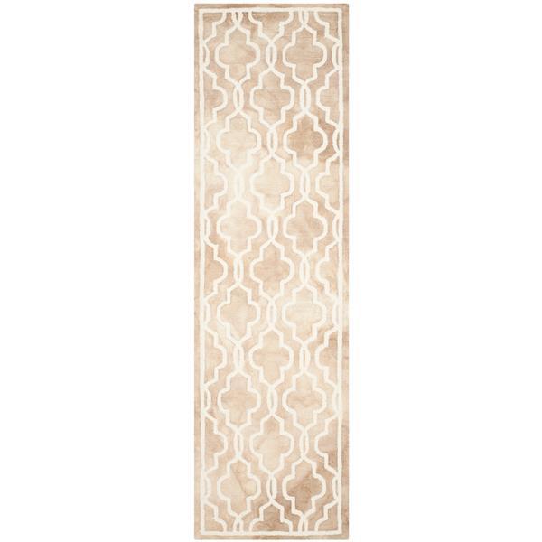 Safavieh Dip Dye Rug - 2.3' x 6' - Wool - Beige/Ivory