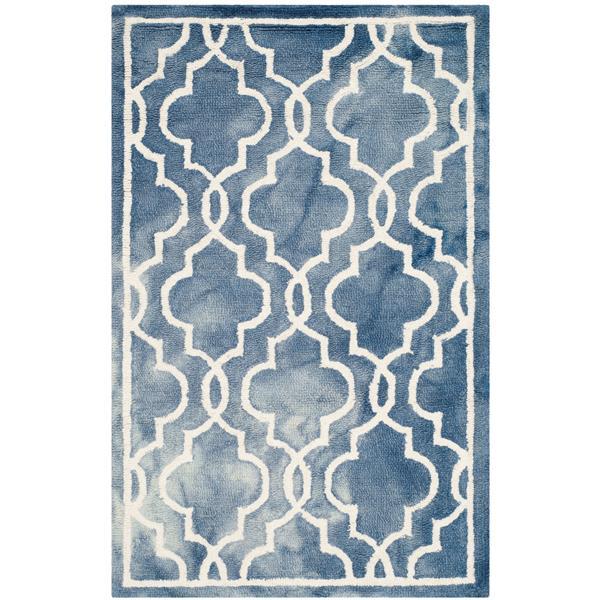 Safavieh Dip Dye Rug - 2.5' x 4' - Wool - Blue/Ivory