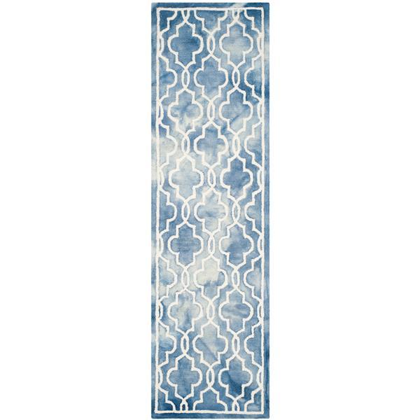 Safavieh Dip Dye Rug - 2.3' x 8' - Wool - Blue/Ivory