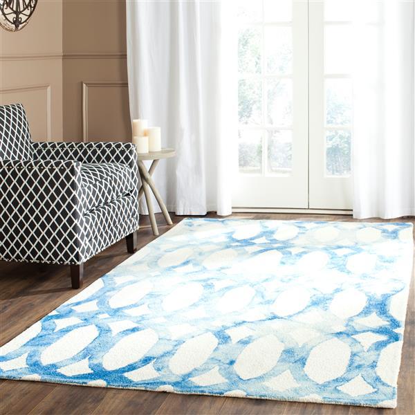Safavieh Dip Dye Rug - 3' x 5' - Wool - Ivory/Blue