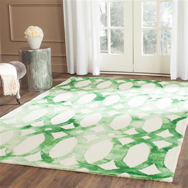 Safavieh Dip Dye Rug - 2' x 3' - Wool - Ivory/Green