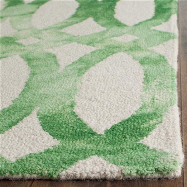 Safavieh Dip Dye Rug - 2.3' x 8' - Wool - Ivory/Green