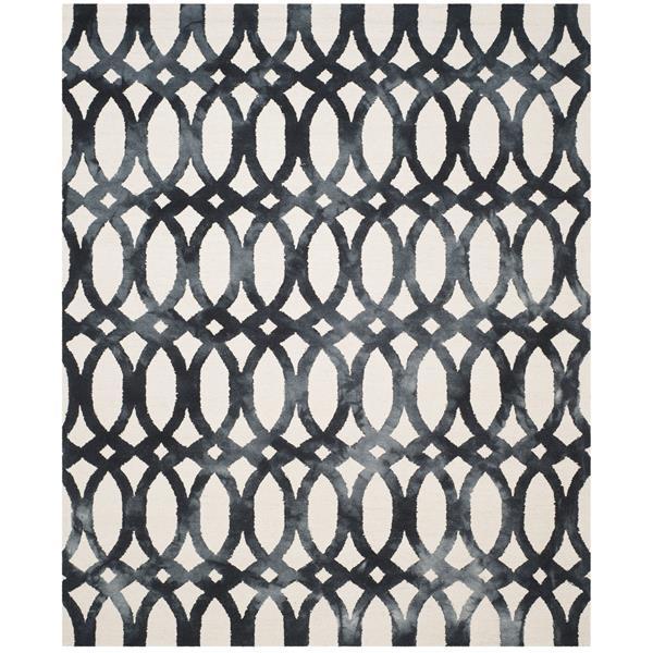 Safavieh Dip Dye Rug - 11' x 15' - Wool - Ivory/Graphite