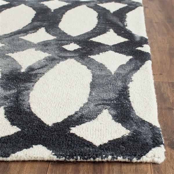 Safavieh Dip Dye Rug - 10' x 14' - Wool - Ivory/Graphite
