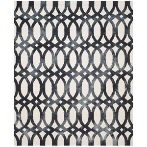 Dip Dye Rug - 10' x 14' - Wool - Ivory/Graphite