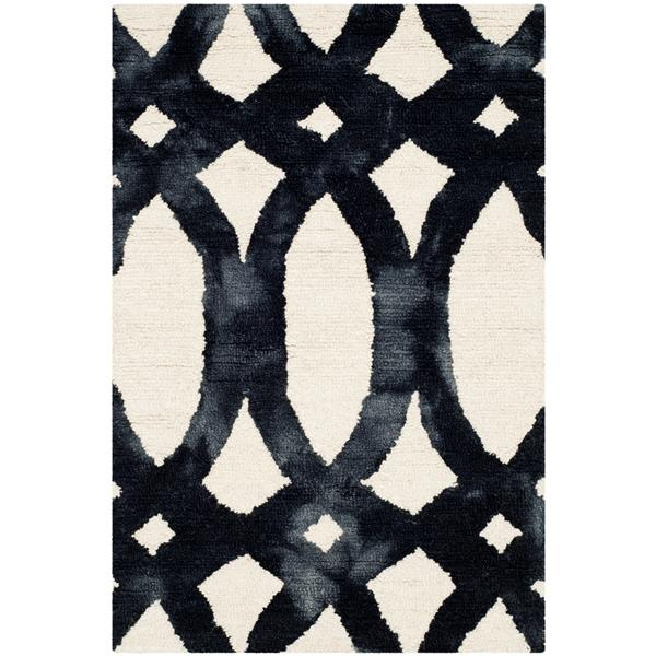 Safavieh Dip Dye Rug - 2' x 3' - Wool - Ivory/Graphite