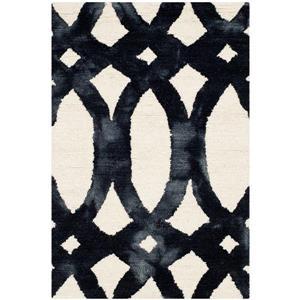 Dip Dye Rug - 2' x 3' - Wool - Ivory/Graphite