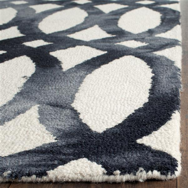 Safavieh Dip Dye Rug - 2.3' x 8' - Wool - Ivory/Graphite