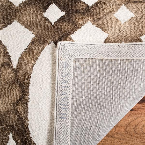 Safavieh Dip Dye Rug - 2.3' x 6' - Wool - Ivory/Chocolate