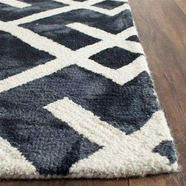 Safavieh Dip Dye Rug - 2.3' x 8' - Wool - Graphite/Ivory