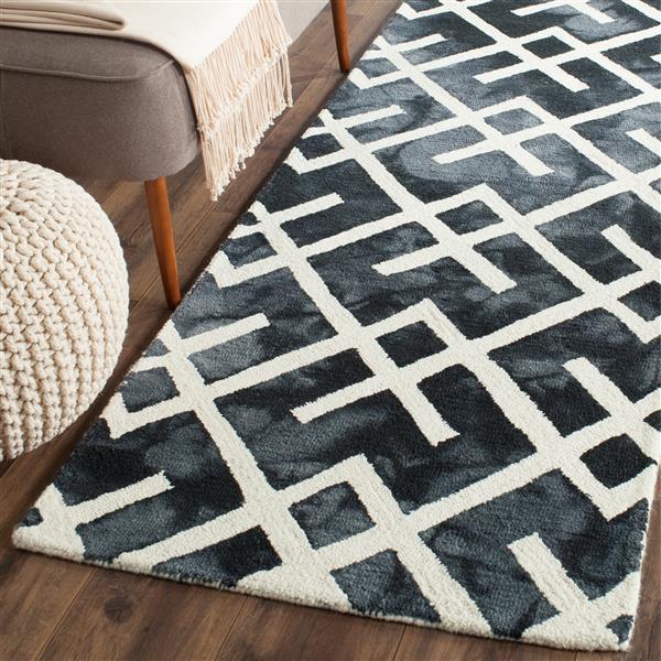 Safavieh Dip Dye Rug - 2.3' x 6' - Wool - Graphite/Ivory