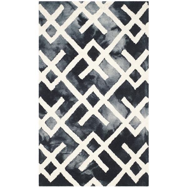 Safavieh Dip Dye Rug - 3' x 5' - Wool - Graphite/Ivory
