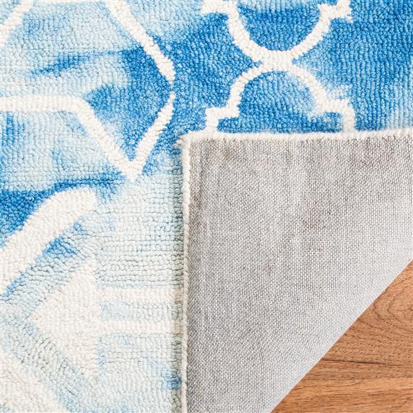 Safavieh Dip Dye Rug - 3' x 5' - Wool - Blue/Ivory