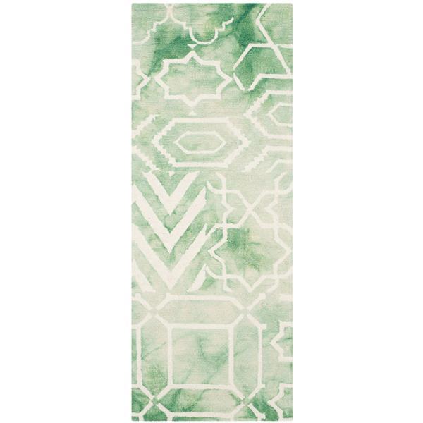 Safavieh Dip Dye Rug - 2.3' x 6' - Wool - Green/Ivory