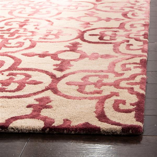 Safavieh Dip Dye Rug - 2.3' x 6' - Wool - Beige/Maroon